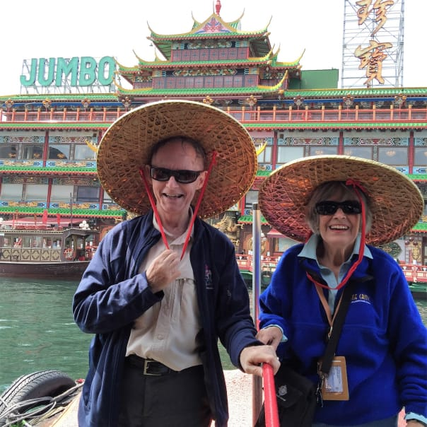 Georgina and Humbero Cruz having fun in China!