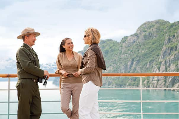 Glacier Bay park rangers are available on deck on every cruise.