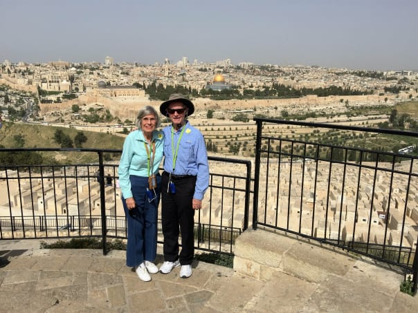 Huberto and Georgina in Jerusalem.
