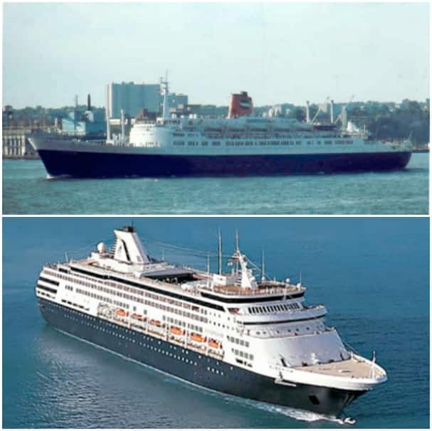 Statendam IV, courtest of World Ship Society, and Statendam V.