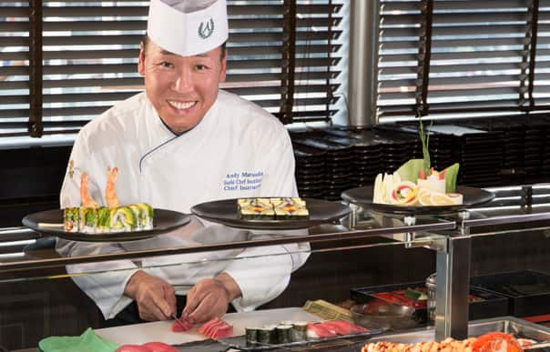 Chef Matsuda in Tamarind where his sushi is featured.