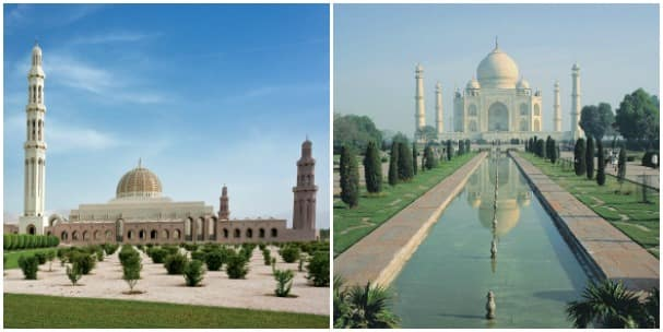 The calls in Oman and India feature some of the most impressive monuments in the world.