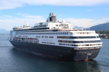 The ms Ryndam first Holland America Line ship for Captain Carsjens.