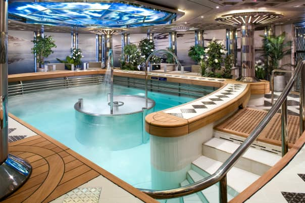 Eurodam's hydropool is as relaxing as it gets!
