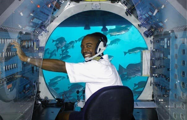 Get up close and personal on the Atlantis Odyssey Submarine!