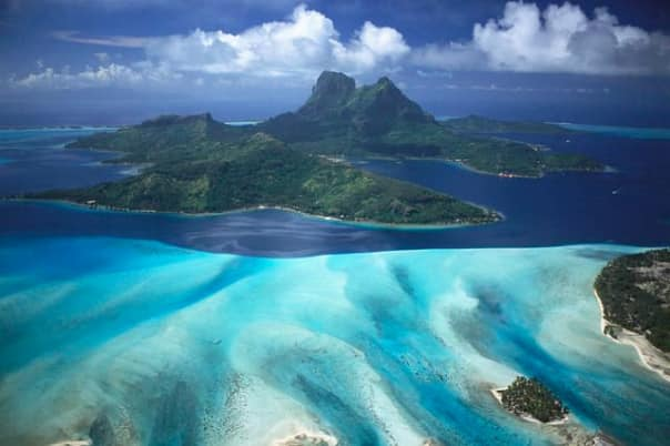 Bora Bora is paradise on earth with its gorgeous colors and crystalline waters.