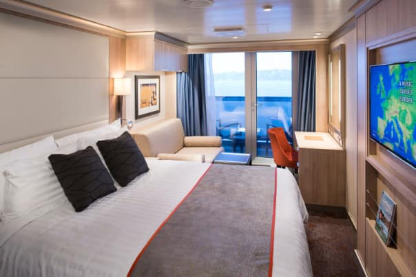 With View & Verandah, book an outside stateroom and get upgraded to a verandah.