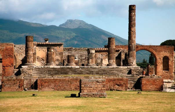 The ash of Vesuvius froze Pompeii in time.