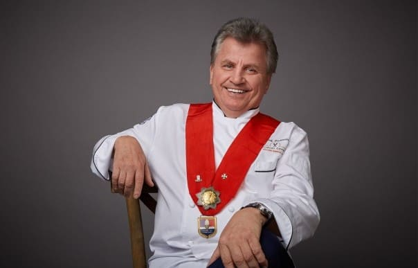 Master Chef Rudi Sodamin is Holland America Line's culinary consultant.