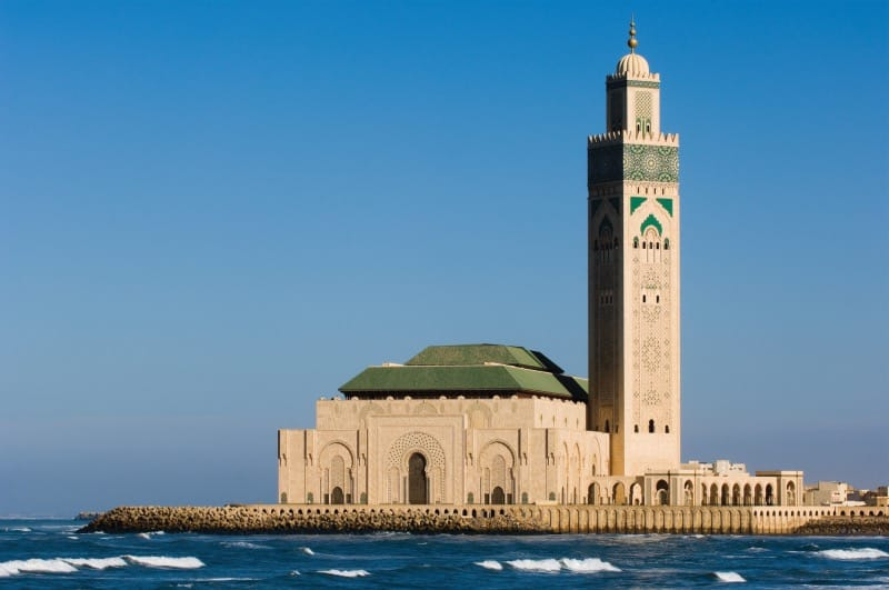See the tallest minaret in the world at Casablanca.