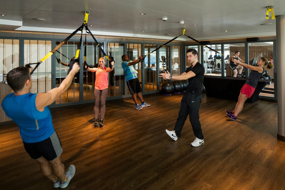 TRX Fitness Center - Deck 9 Forward StarboardKoningsdam - Holland America Line