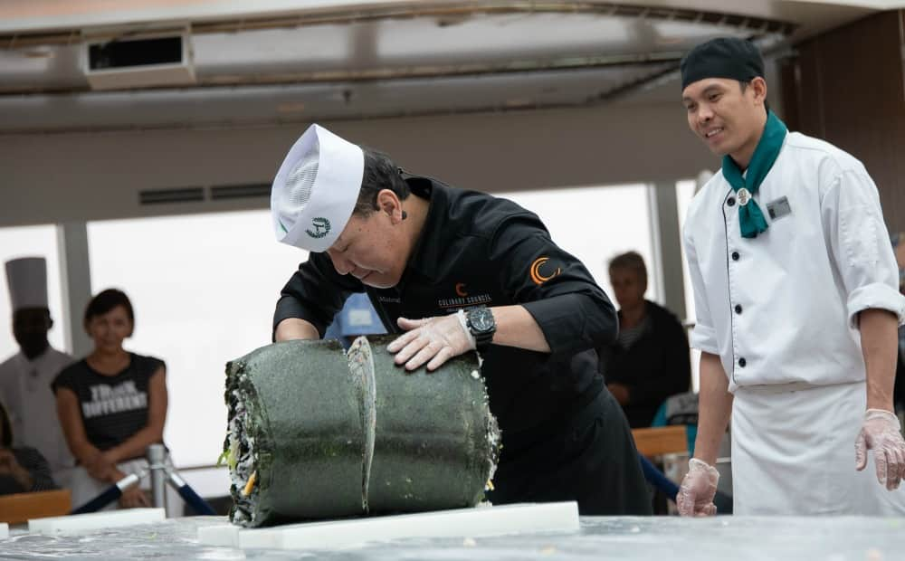 Largest Sushi Roll at Sea