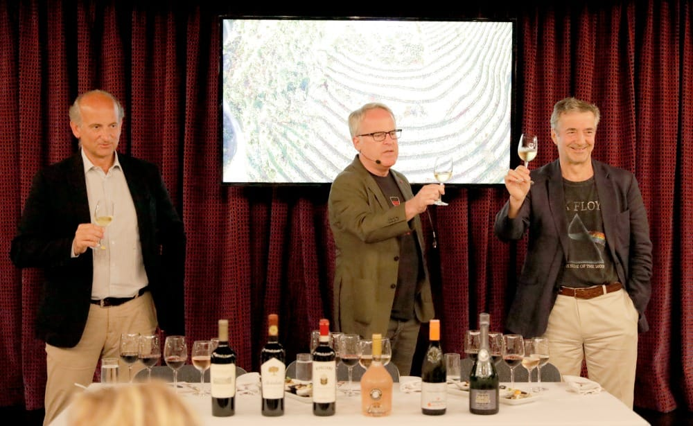 From left: Marchesi Frescobaldi, James Suckling and Eduardo Chadwick.