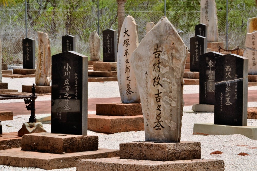A Japanese cemetery in Broome.