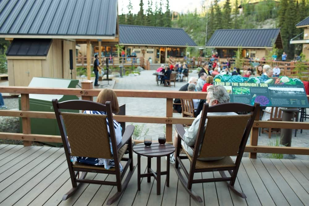 Denali Square at the McKinley Chalet & Resort is a highlight of every Land+Sea Journey.
