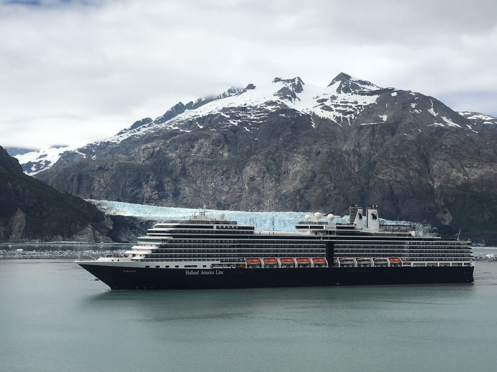 Eurodam at Glacier Bay.