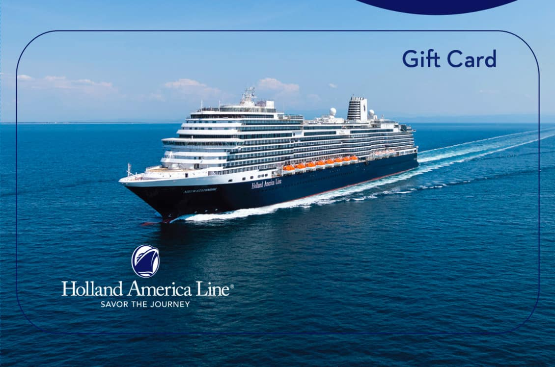 New Holland America Line Gift Cards Make It Easy to Give the