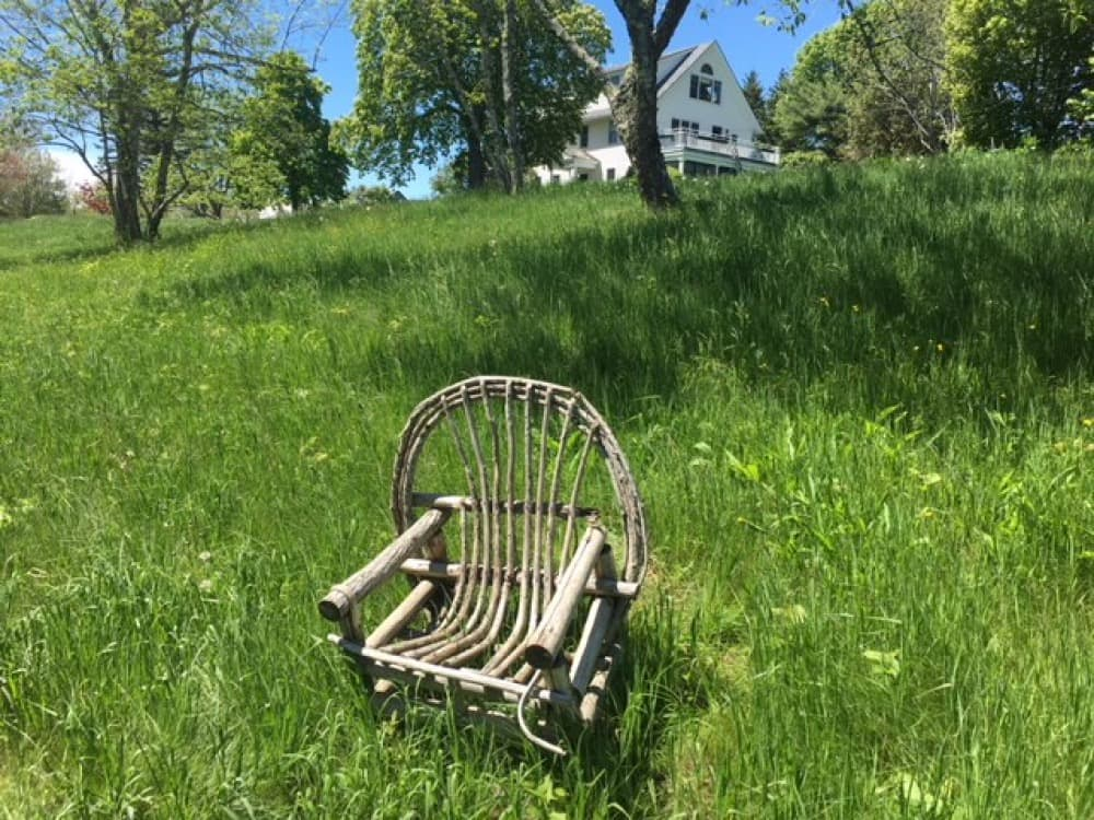 Chair on a hill