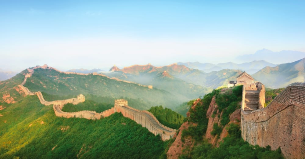 The Great Wall of China can be visited on an overland tour.
