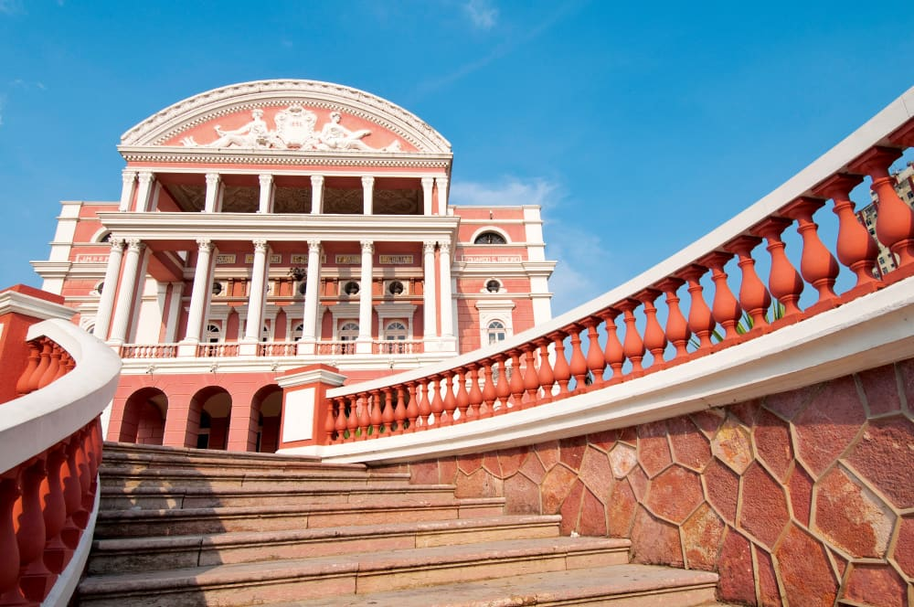 The Teatro Amazonas Opera House in Manaus.