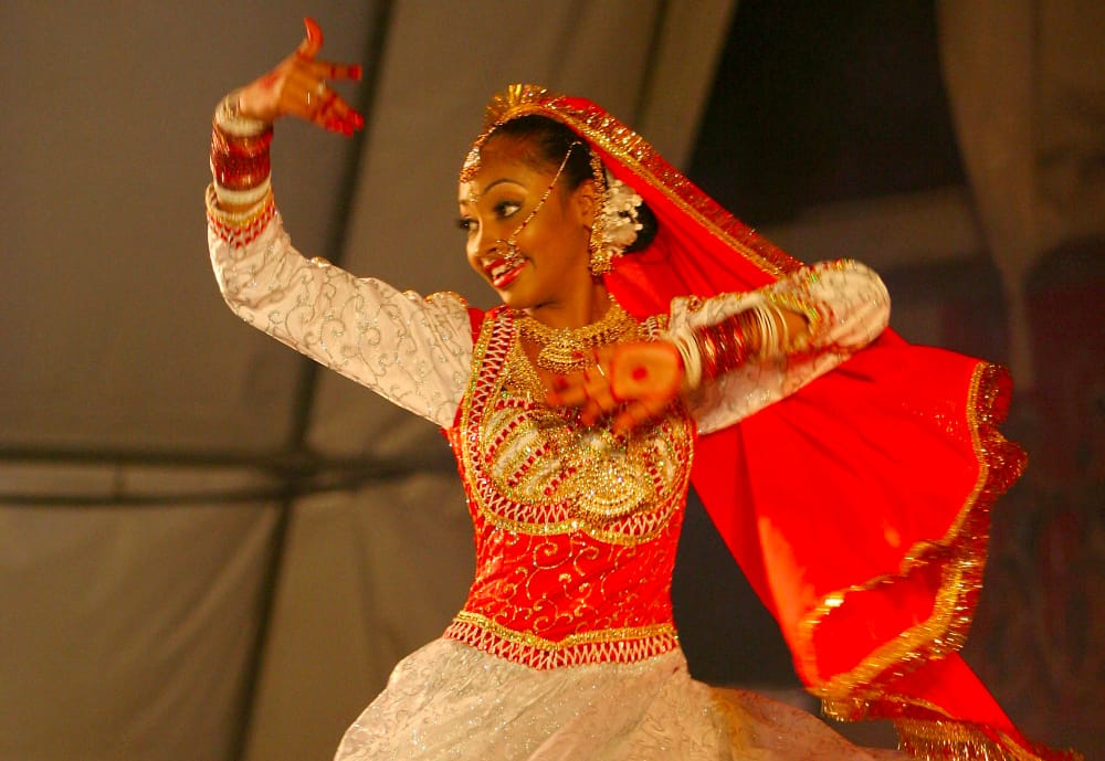 A dancer in Trinidad