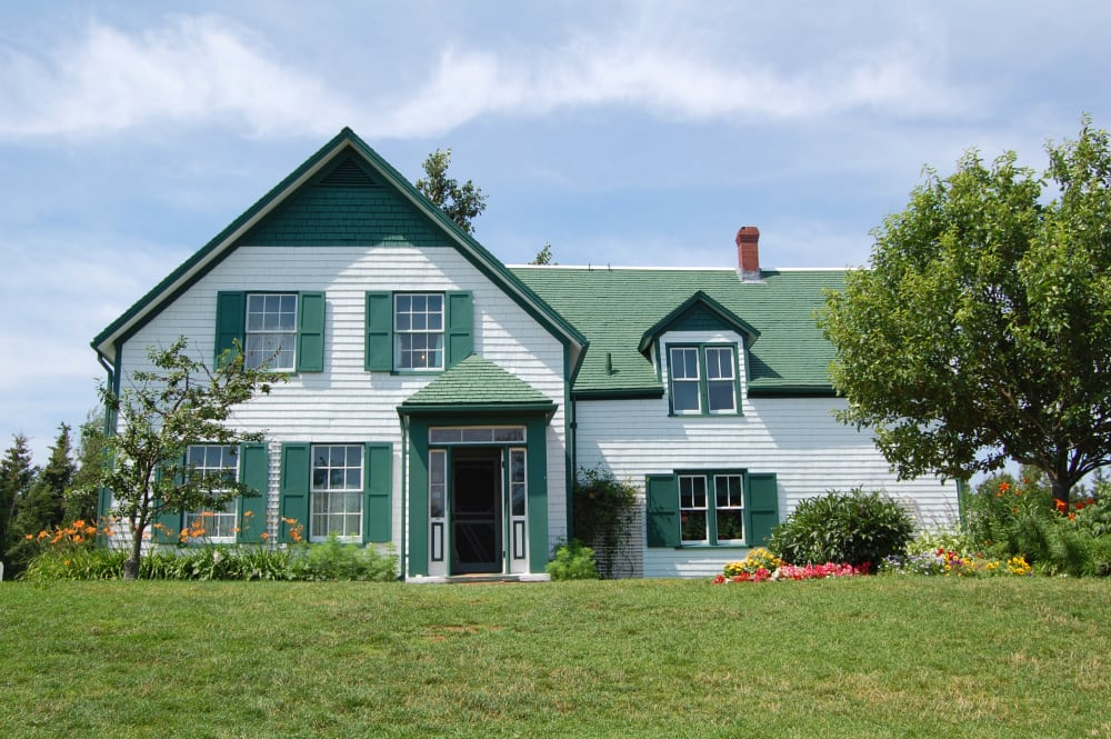 The house used as location for Anne of Green Gables novels in Prince Edward Island, Canada