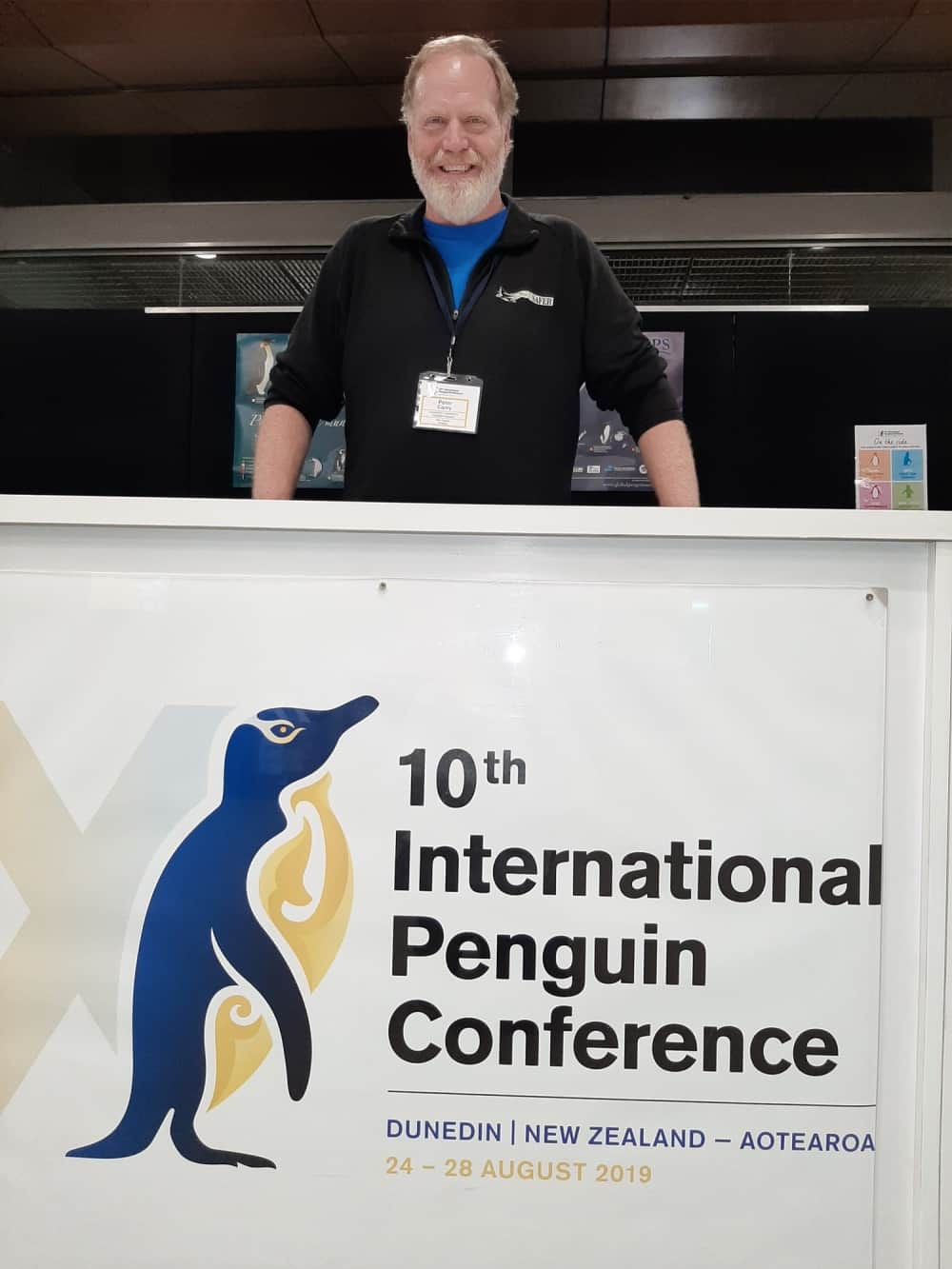 Dr Carey at the Interntaional Penguin Conference