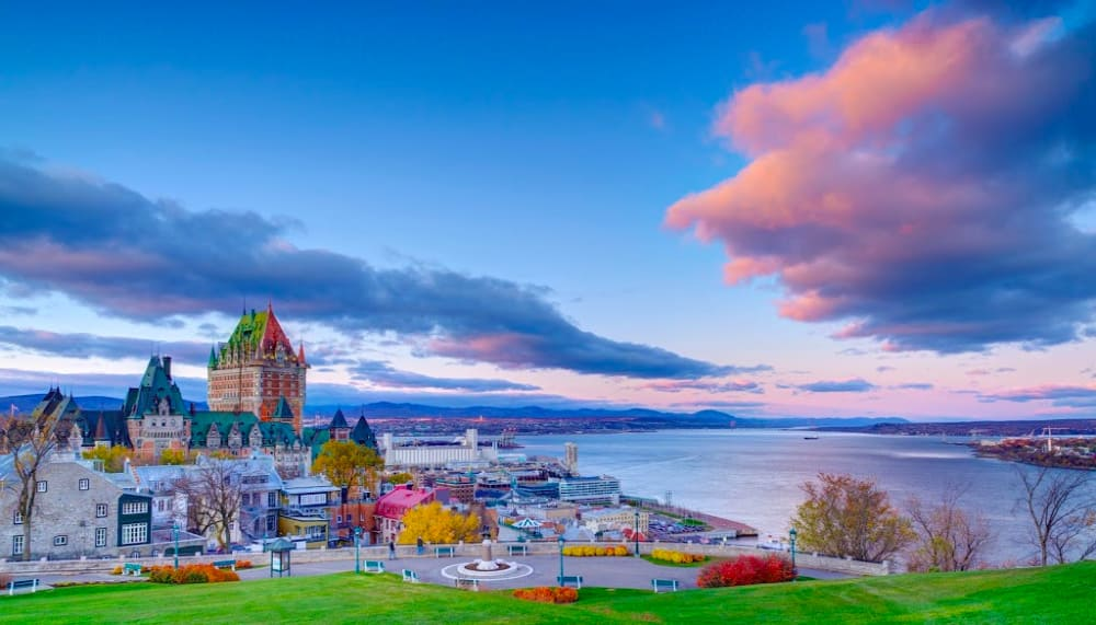 Quebec City is a favorite Canadian port.