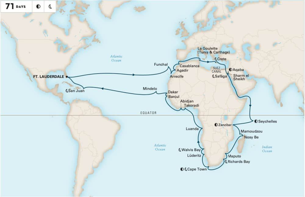 Grand Africa Voyage map