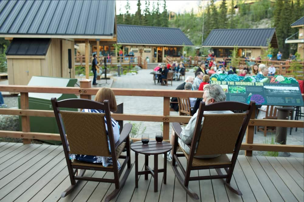 Denali Square at the McKinley Chalet Resort is the perfect place to relax and enjoy authentic Alaska experiences.
