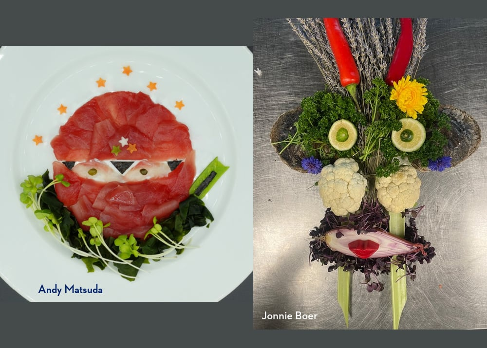 Culinary Council Members Andy Matsuda and Jonnie Boer made a Food Face in honor of the day.