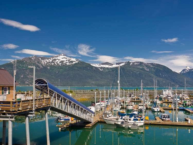 View of Haines, Alaska cruise port