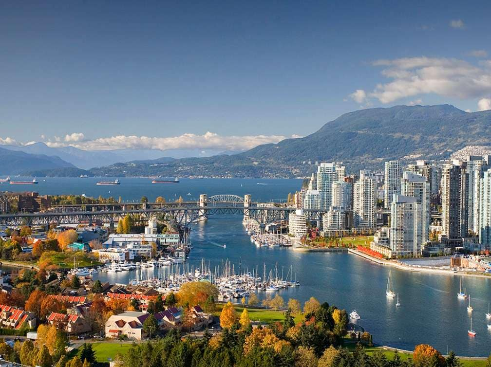 View of the city of Vancouver, Canada