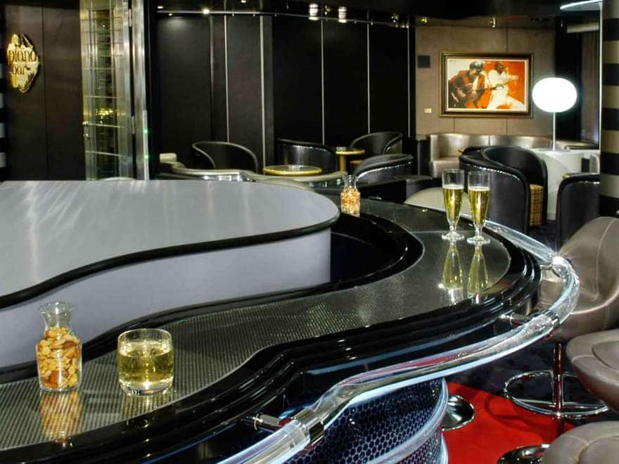 piano bar on a holland america line ship
