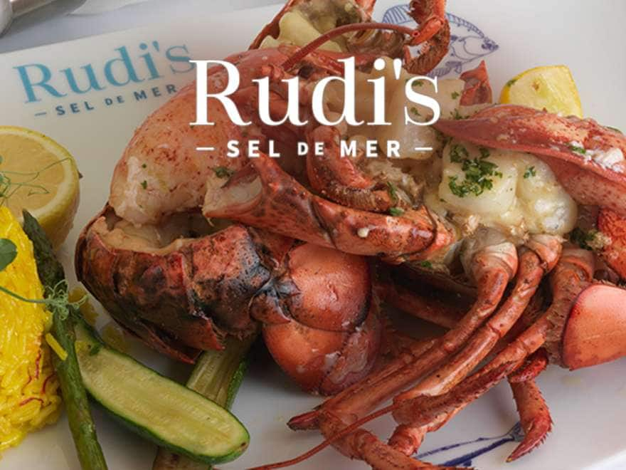 plate of lobster and rice served at Rudi's Sel de Mer