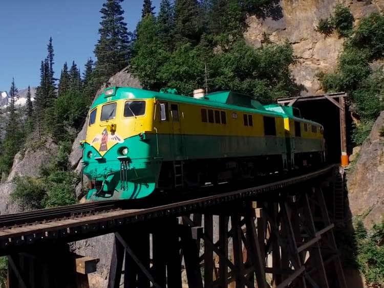 Train on bridge, Yukon route