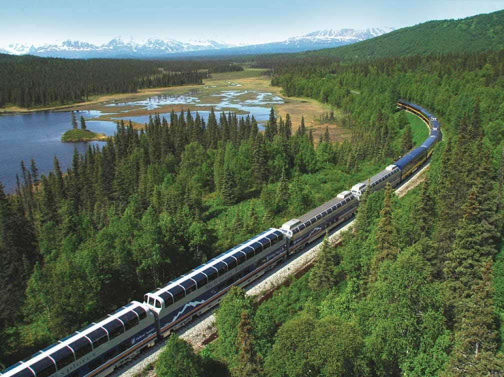 McKinley explorer train on Alaska cruise