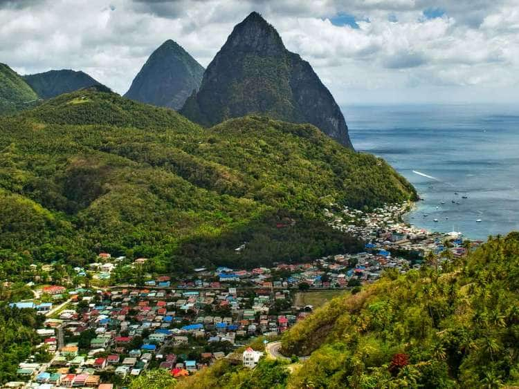 Aerial view of St. Lucia