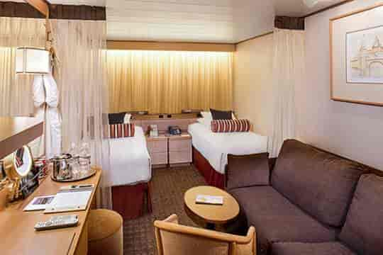 Interior stateroom, queen bed configuration (low resolution)