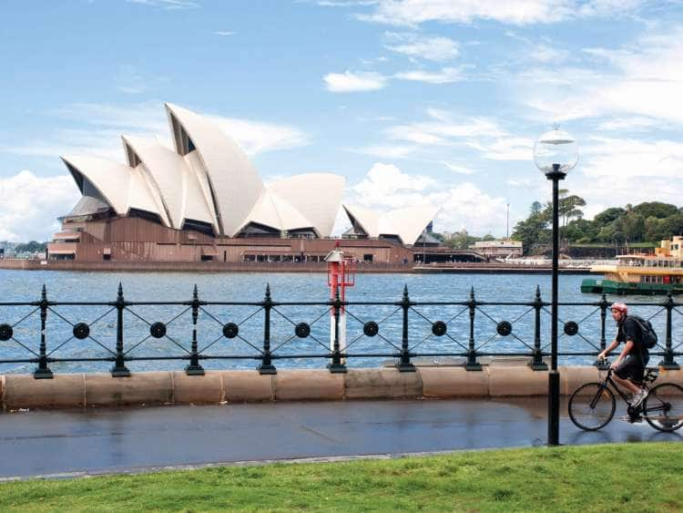View of the Sydney Opera House seen on a Holland America Line excursion taken on one of many Australia cruises