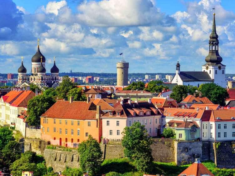 view of the old town in talinn, estonia