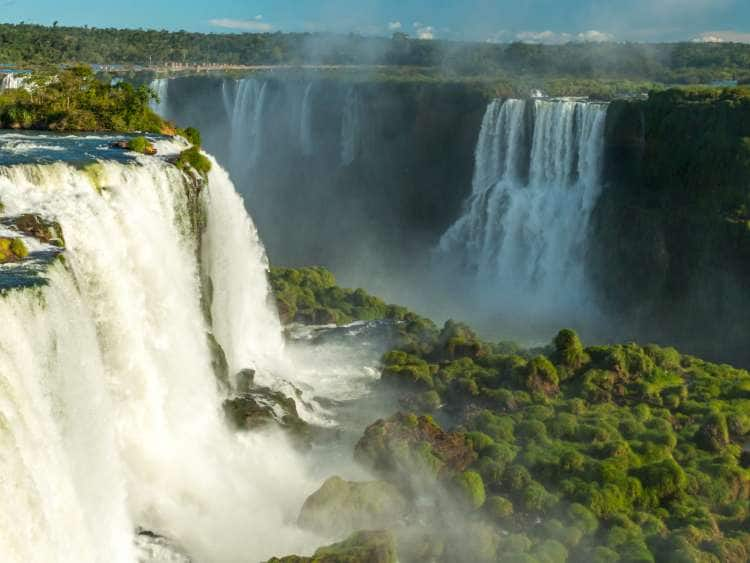 View of the Iguazu Falls on a world cruise