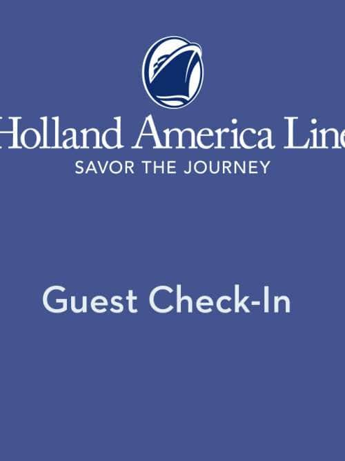 Holland America Online Check In