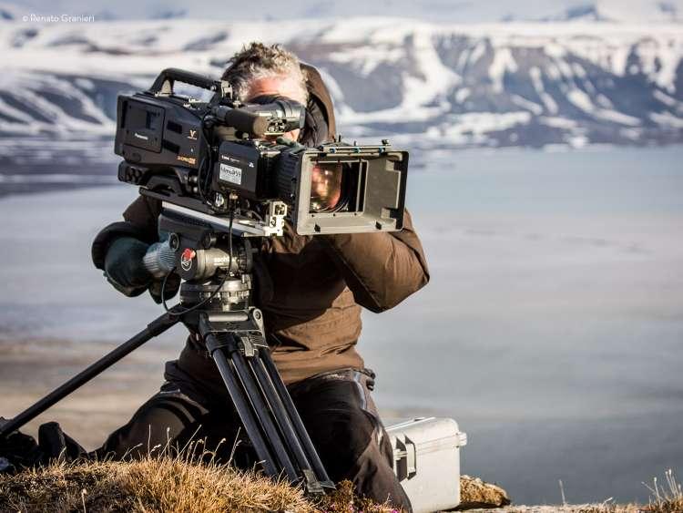 camera man and gear