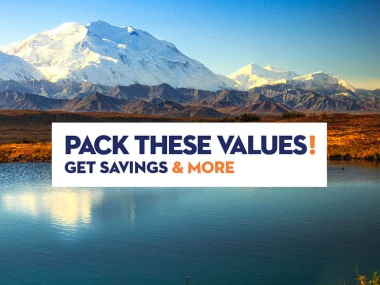 Pack These Values! Get savings & more