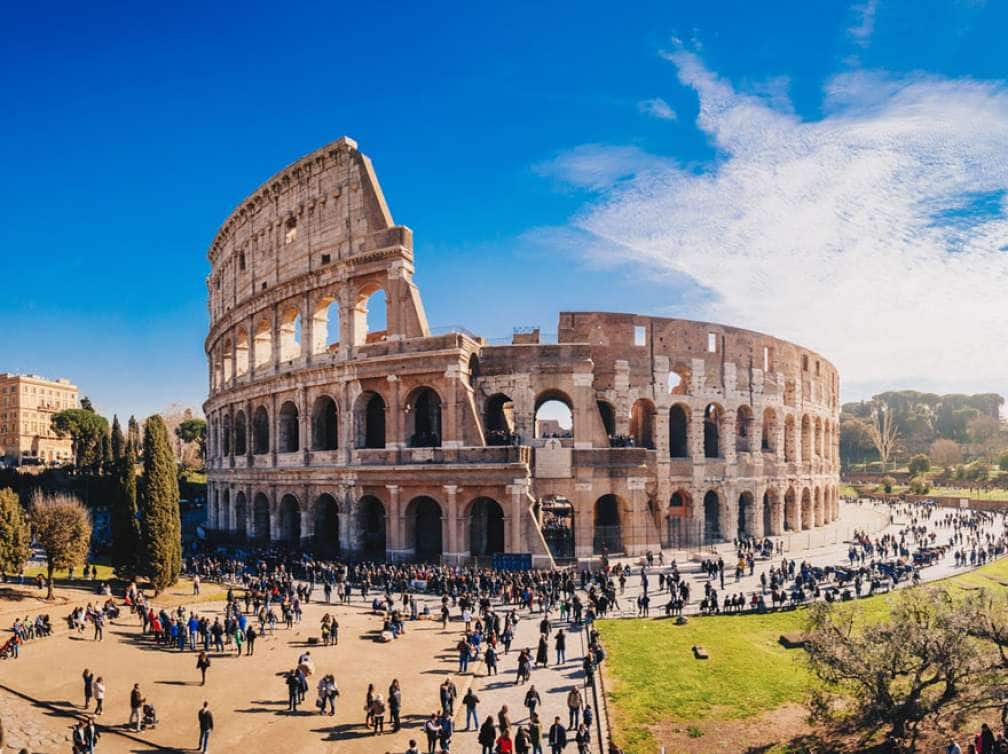 the colosseum in rome,italy