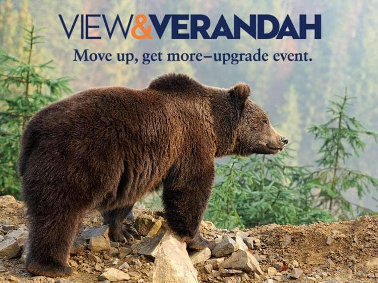 View & Verandah. Move up, get more - upgrade event.
