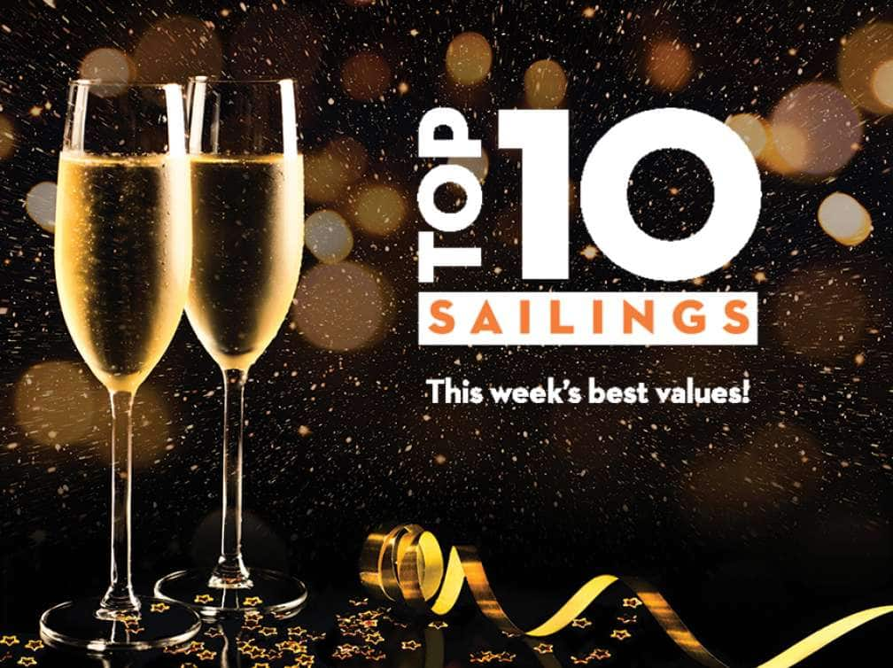 Top ten Holiday Sailings - this week's best values!