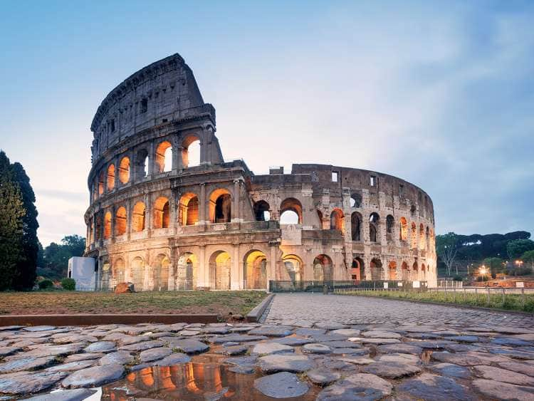 View of the Roman Colosseum on a Mediterranean Europe cruise