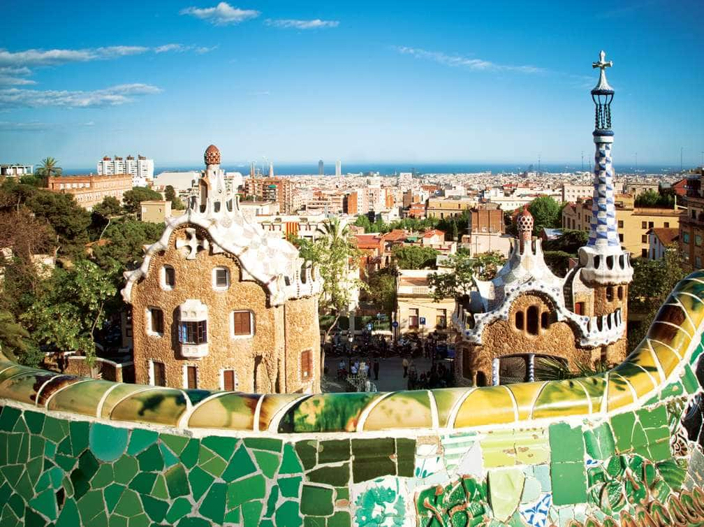 A city view of Barcelona, Spain on a Mediterranean cruise